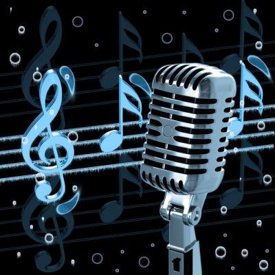Plakat Vintage Mikrofon