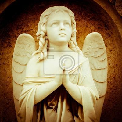 Plakat Vintage obraz anioła, modląc