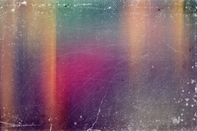 Plakat Vintage old abstract distressed blurred retro photo bokeh background with scratches, defects and light leaks