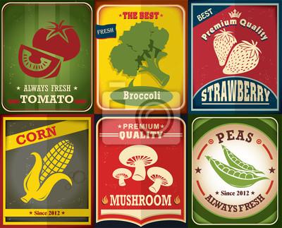 Vintage plakat Farm świeże scenografia