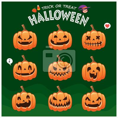 Vintage plakat Halloween plakat z gniazdem wektor o charakter latarni.