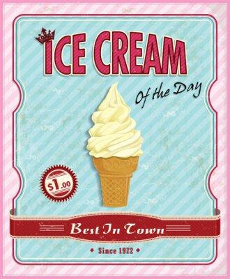 Plakat Vintage plakat lody