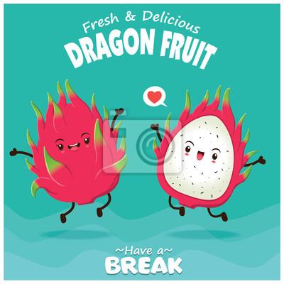 Vintage plakat owoców owocowych o smaku owoców wektorowych.