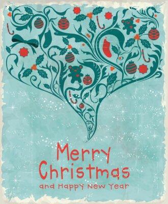 Vintage plakat projekt Boże Narodzenie