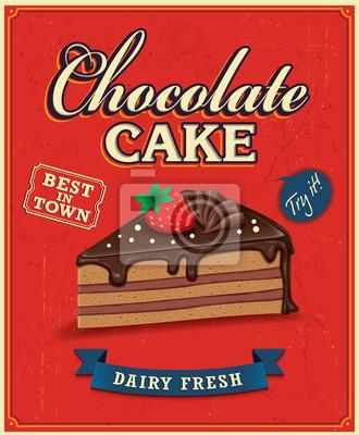 Vintage plakat projekt ciasto czekoladowe