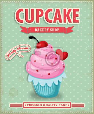 Vintage plakat projekt Cupcake