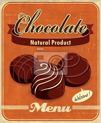 Plakat Vintage plakat projekt czekolada