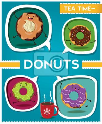Vintage plakat projekt Donut