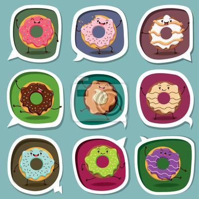 Vintage plakat projekt Donuts