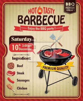 Vintage plakat projekt grill