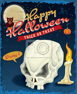 Vintage plakat projekt Halloween