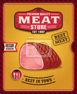 Vintage plakat projekt mięsa
