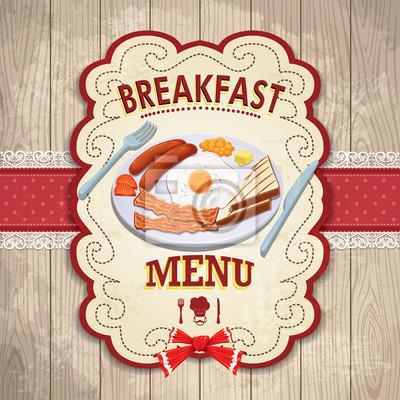 Vintage plakat projekt śniadanie