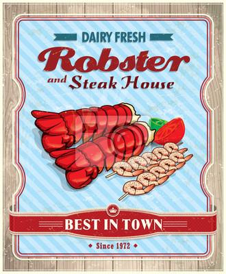 Plakat Vintage plakat Robster