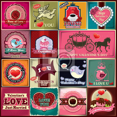 Vintage plakat scenografia Valentine