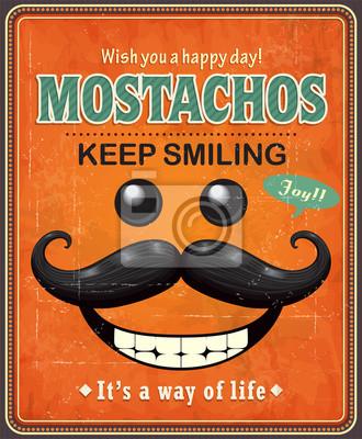 Vintage projekt plakatu Mostachos