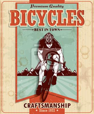Plakat Vintage projekt plakatu rowery