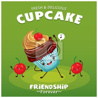 Plakat Vintage projektu ciastko ciastko plakat z charakterem
