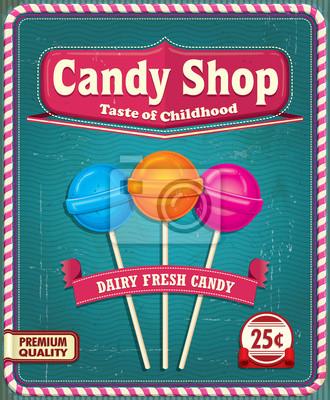 Plakat Vintage projektu Lollipop plakat