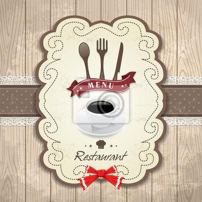 Plakat Vintage Ramka szablon menu