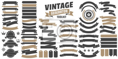 Plakat Vintage Retro Logo wektor na baner