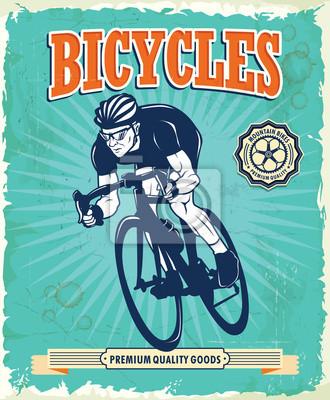 Vintage rowerów plakat projekt