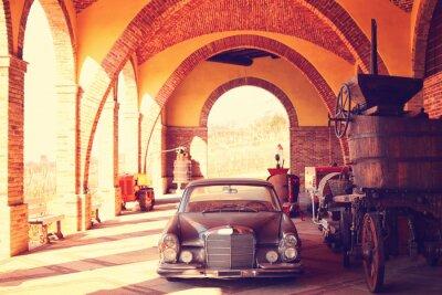 Plakat Vintage samochód