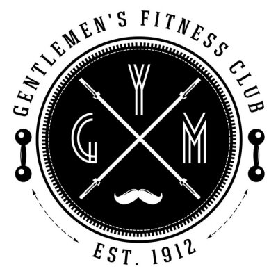 Plakat Vintage siłownia logo