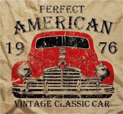 Plakat Vintage starych samochodów Graphic Design T shirt