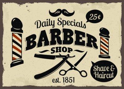 Plakat Vintage Styled Barber Shop