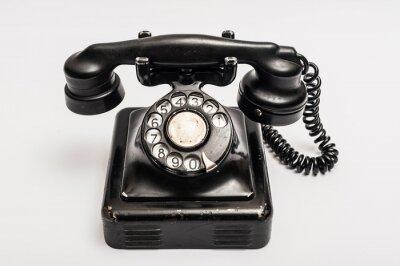 Plakat Vintage telefon
