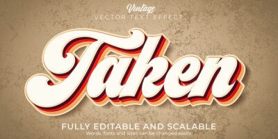 Plakat Vintage text effect, editable retro and old text style
