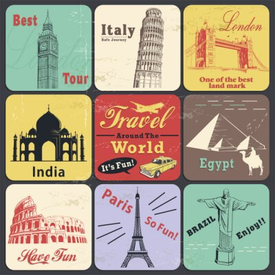 Plakat Vintage travel label poster