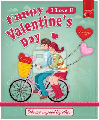 Vintage, Valentine plakat projekt