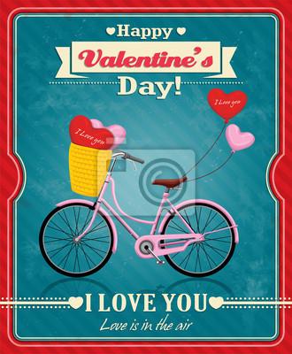Vintage Valentine projekt plakatu z cyklu