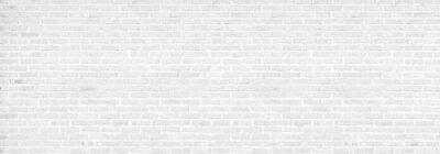 Plakat vintage white brick wall texture background