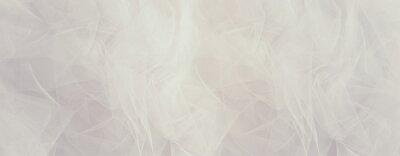 Plakat Vintage white tulle chiffon texture background