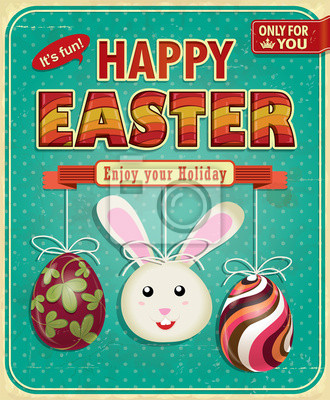 Plakat Vintage Wielkanoc plakat projekt