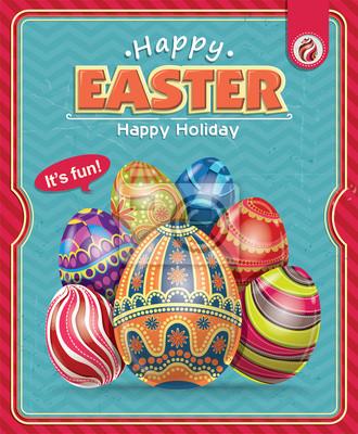 Plakat Vintage Wielkanoc projektowania plakatu