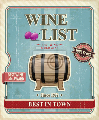 Vintage Wine label plakat