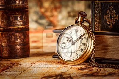 Plakat Vintage zegarek kieszonkowy