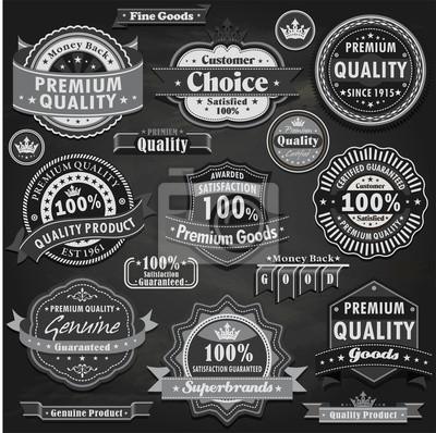 Vintage zestaw etykiet jakości premium