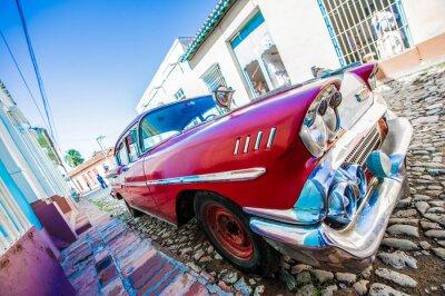 Plakat voiture ancienne de Cuba