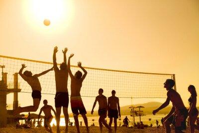 Plakat volleyball on beach