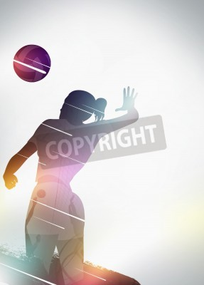 Plakat Volleyball sport invitation advert background with empty space