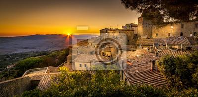 Plakat Volterra Sunset