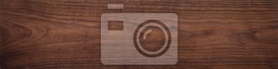 Plakat Walnut wood texture. Super long walnut planks texture background.Texture element