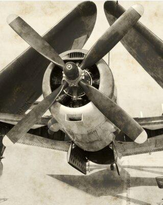 Plakat Wartime navy samolot ze złożonymi skrzydłami