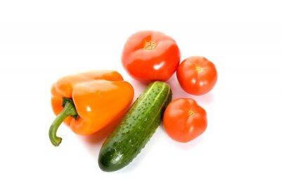 Plakat warzywa samodzielnie na białym tle