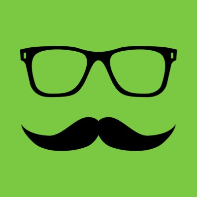 Plakat Wąsy i okulary